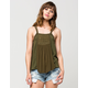 TAYLOR & SAGE Braided Strap Womens Tank