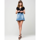 CELEBRITY PINK Button Front Denim Skirt