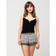 FULL TILT Scalloped Printed Womens Shorts