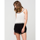 SOCIALITE Crochet Trim Womens Shorts