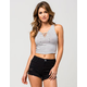 FULL TILT Striped Lace Up Womens Tank