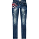 ALMOST FAMOUS British Flag Womens Skinny Jeans