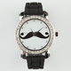 Mustache Rhinestone Watch