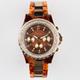 GENEVA Rhinestone Tortoiseshell Watch