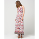ANGIE Floral Border Print Dress