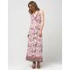 ANGIE Floral Border Print Dress