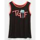 FULL TILT TGIF Girls Ringer Tank