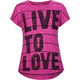 FULL TILT Love To Live Girls Hi Low Tee