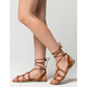 CITY CLASSIFIED Thin Knot Ghillie Womens Sandals