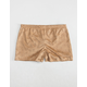 H.I.P. Laser Cut Floral Moleskin Girls Shorts