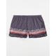 FULL TILT Border Print Knit Ruffle Girls Shorts