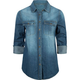 FULL TILT Chambray Womens Shirt
