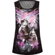 FULL TILT Wolves Mesh Back Womens Muscle Tee