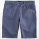 RSQ London Mens Skinny Cutoff Twill Shorts