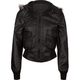 FULL TILT Hooded Faux Leather Womens Bomber Jacket