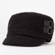 Textured Buckle Side Womens Military Hat