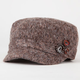 Tweed Womens Military Hat