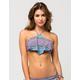 RAISINS Printed Flounce Bikini Top