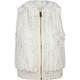 YMI Faux Fur Womens Hooded Vest