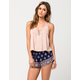 OTHERS FOLLOW Border Print Womens Shorts