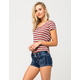 ALMOST FAMOUS PREMIUM Patch Pocket Womens Denim Shorts