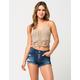 VANILLA STAR PREMIUM Button Front Womens Denim Shorts