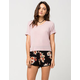 FULL TILT Watercolor Floral Womens Shorts