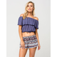 FULL TILT Floral Crochet Womens Shorts