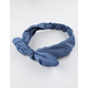 Chambray Twisted Headwrap