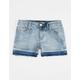 SCISSOR Dyed Fray Hem Girls Denim Shorts