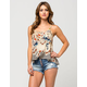 HIGHWAY Button Front Womens Denim Cutoff Shorts