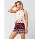 FULL TILT Floral Border Print Womens Shorts