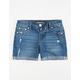 SCISSOR Bermuda Cuff Girls Denim Shorts