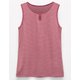 FULL TILT Striped Key Hole Girls Tank