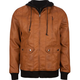 BROOKLYN CLOTH Murdock Faux Leather Mens Hooded Jacket