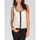 FULL TILT Lace Hook & Eye Womens Top