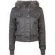 FULL TILT Faux Fur Hood Womens Twill Jacket