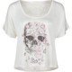FULL TILT Skull Lace Back Womens Crop Tee