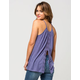 OTHERS FOLLOW Crochet Split Womens Tank