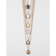 FULL TILT 6 Layer Stone Necklace