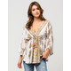 ANGIE Floral Border Caftan Womens Top