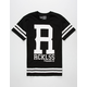 YOUNG & RECKLESS Large R Stripes Mens T-Shirt