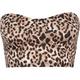Vintage Longline Leopard Bandeau