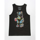 RIOT SOCIETY Palm Party Bear Mens Tank