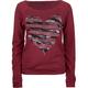 FULL TILT Rhinestone Heart Womens Sweatshirt