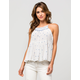 PATRONS OF PEACE Flowy Embroidered Womens Tank