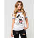 JUNK FOOD Mickey Mouse Womens Ringer Tee