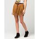 FULL TILT Suede Fringe Skirt