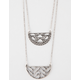 FULL TILT Layered Geometric Cutout Necklace