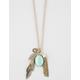 FULL TILT Fringe/Leaf Charm Necklace